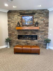 After - Lobby fireplace
