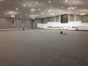Auditorium - new carpet